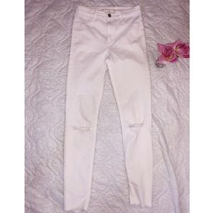 Zara white denim